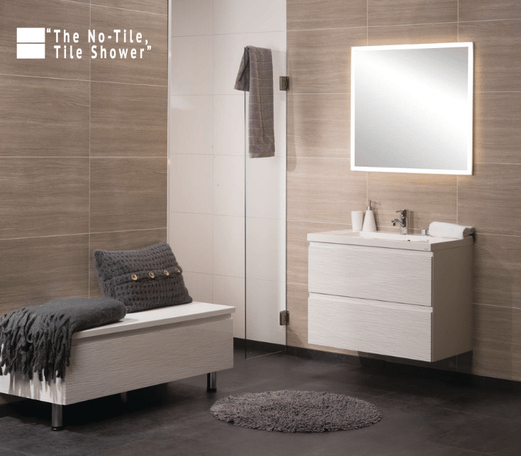 Textured wood bathroom wall panels for a zen design | Innovate Building Solutions | Innovate Builders Blog | #BathroomWallPanels #LaminateWallPanels #TexturedWallPanels #BuilderBlog