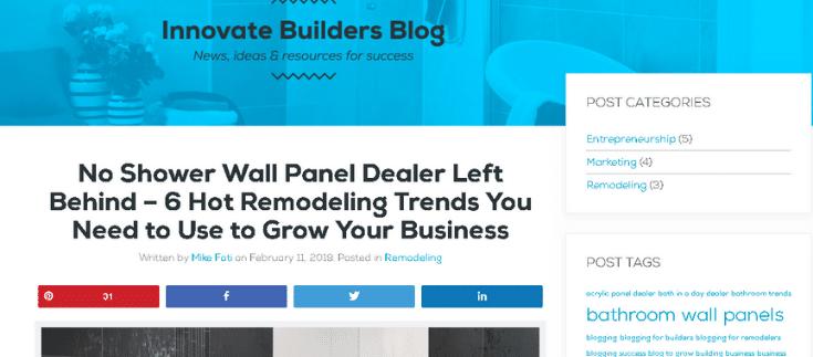Blogging to grow a wall panel business   Innovate Builders Blog   Innovate Building Solutions   #WallPanels #BloggingIdeas #BloggingWebsite #MarketingIdeas