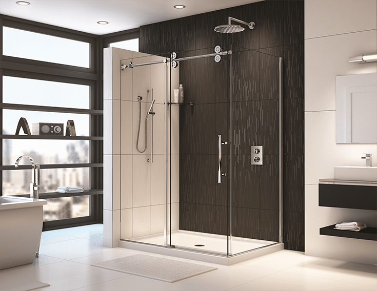 Reinforced contemporary acrylic shower base   Innovate Building Solutions   Innovate Builders Blog   #ContemporaryShower #AcrylicShowerBase BahroomShower