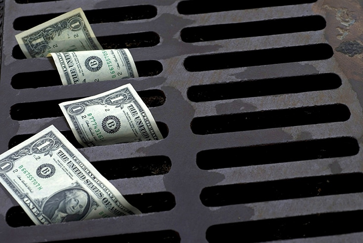 Watch money go down drain not blogging content marketing remodeling lead generation | Innovate Building Solutions | Innovate Builders Blog | #LossingMoney #SEO #PayPerClick #marketingbudget