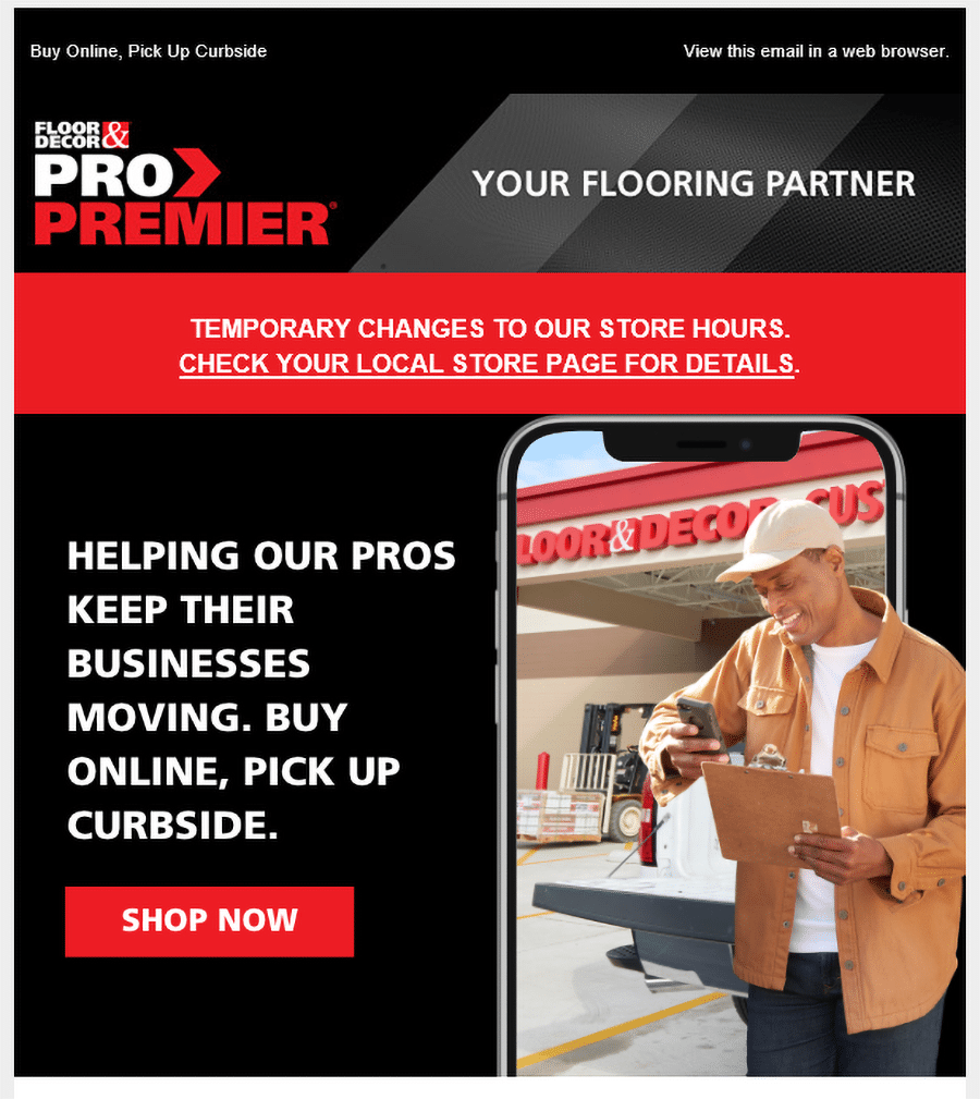 Curbside flooring pick up service Floor and Decor | Innovate Building Solutions | Innovate Builders Blog | #CurbsidePickUp #Flooring #SmallBusiness