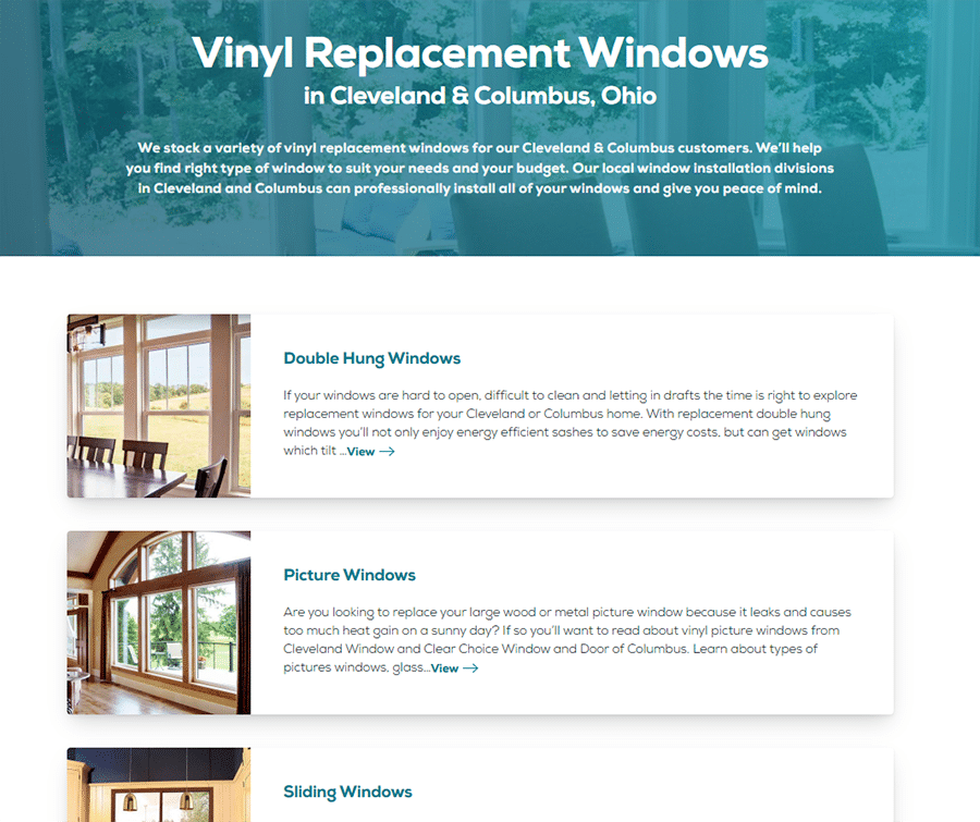 Idea 1 tip 4 regionalized service pages for vinyl replacement windows in columbus and cleveland ohio   Innovate Building Solutions   Innovate Builders Blog #VInylwindows #ClevelandWindow #ColumbusWindows