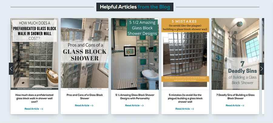 Idea 3 helpful articles on glass block showers from Innovate Building Solutions News from the Block blog   Innovate Building Solutions   Innovate Builders Blog #Articles #HelpfulTIps #WebsiteMistakes