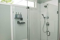 Shower wall panels in arctic white color