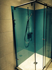 Blue Atoll Shower Walls
