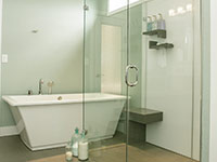 Arctic white interior shower wall