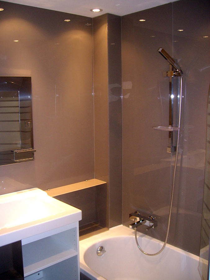 High Gloss Acrylic Wall Panels - Back Painted Glass ...