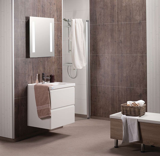 Laminated DIY Bathroom, Shower & Tub Wall Panels & Kits - Innovate Building Solutions