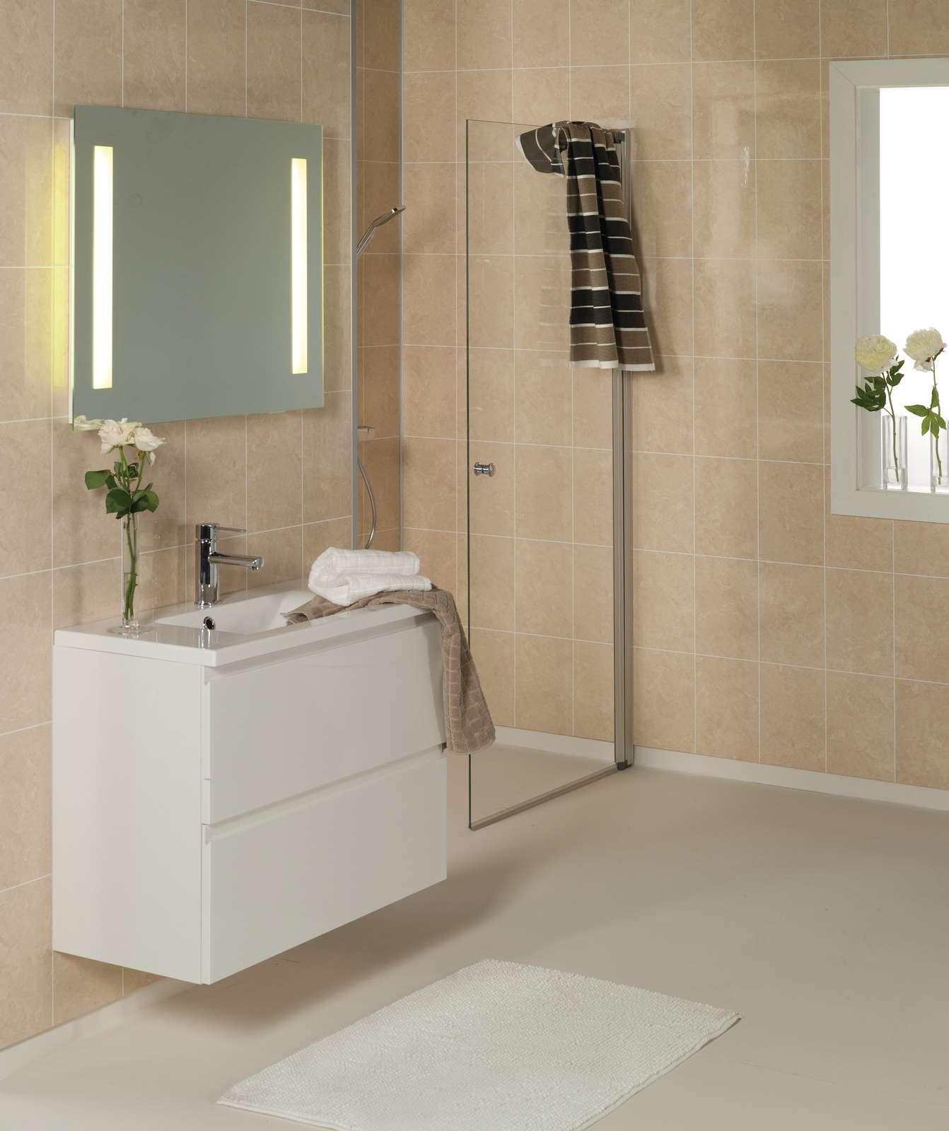 Laminated DIY Bathroom, Shower & Tub Wall Panels & Kits ...