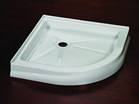 round acrylic shower pan