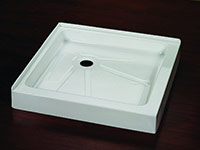 square shower pans