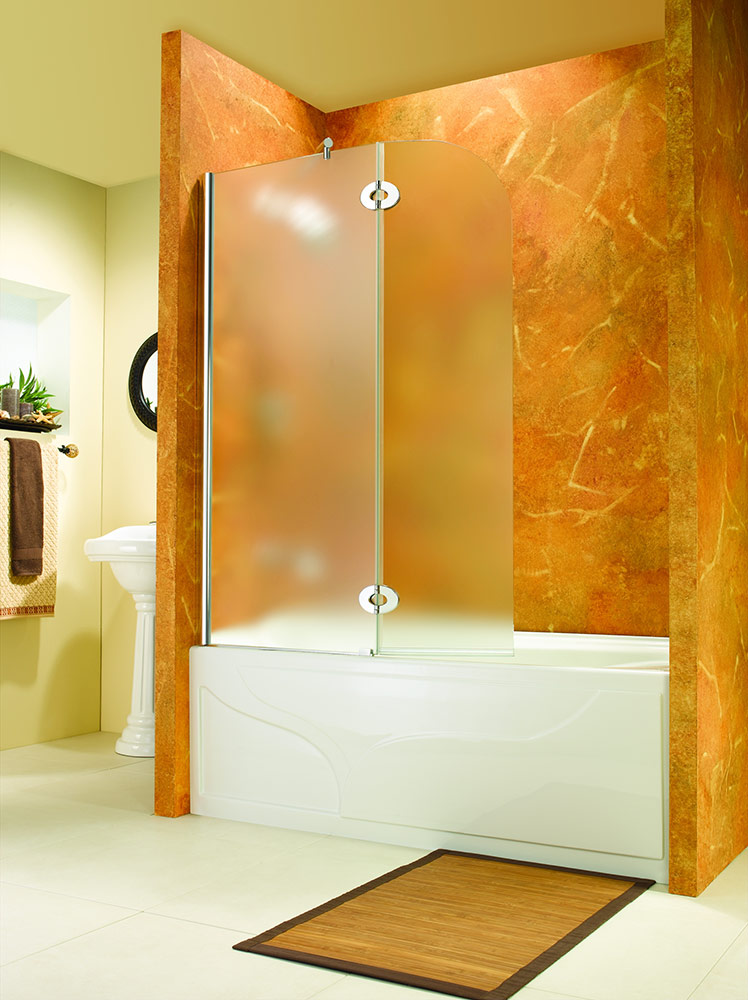 Glass shower enclosures bathtub enclosures acrylic bases by fleurco innovate building solutions - Bathtub shower doors ...
