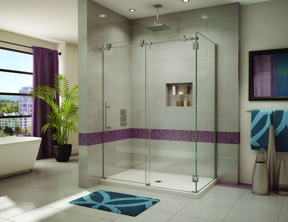 1 Luxury 2 Sided Sliding Shower Enclosure Fleurco