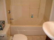 old fiberglass tub and shower unit in cleveland