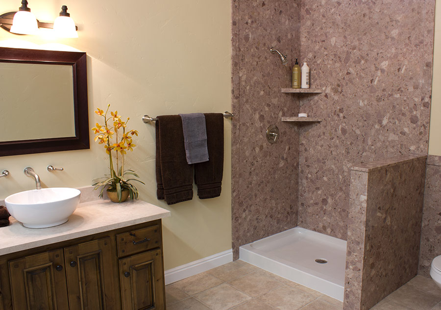 Acrylic bathtub liner enclosures near cleveland and - Shower wall material ideas ...