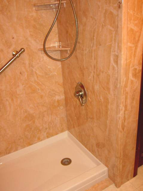 Acrylic bathtub liner enclosures near cleveland and for Shower tub liner
