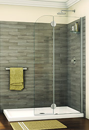 Roll In Handicapped Shower With Barrier Free Shower Base Innovate Building Solutions