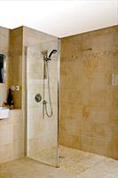 Charmant ... Single Shower Screen With Tuff Form Zero Threshold Base