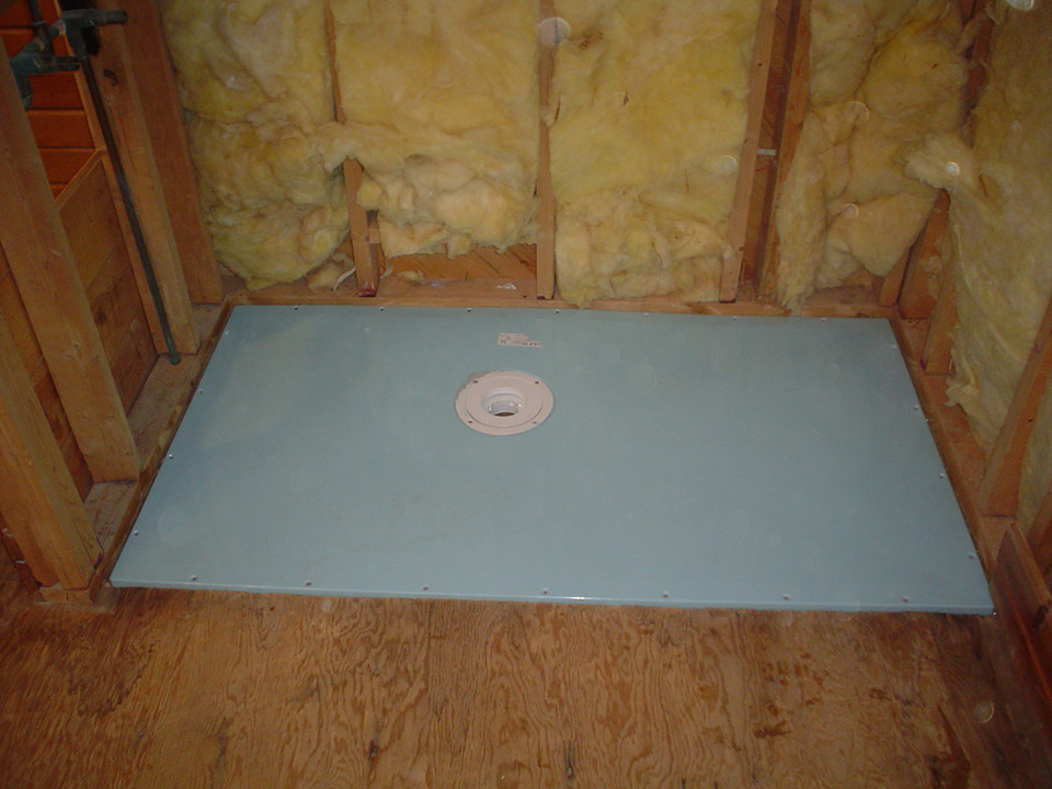 Roll In Handicapped Shower With Barrier Free Shower Base