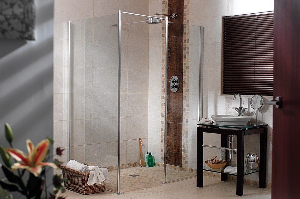 Two Shower Screens With Tuff Form Accessible Shower