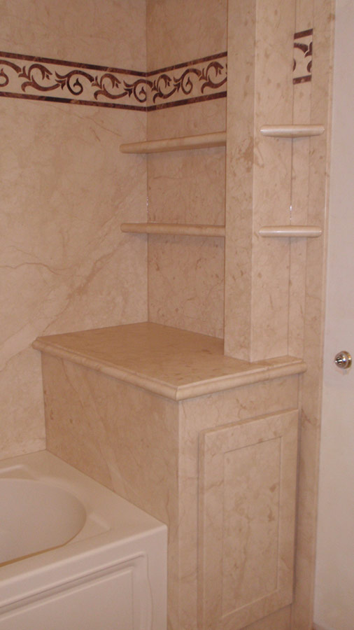 Decorative Stone Marble Or Granite Pattern Tub Amp Shower