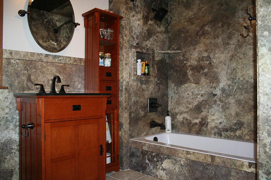 Decorative Stone, Marble, or Granite Pattern Tub & Shower ...