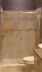 semi-frameless shower system with a sliding door in columbus
