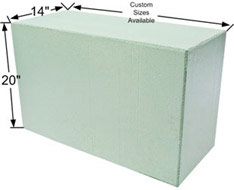 "14"" x 20"" expanded polystyrene bench seat"