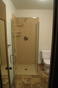 3/8in glass frameless door with 6in pull handle