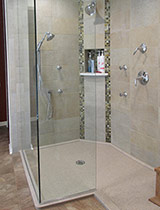 Custom walk-in low profile shower