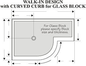 Glass block shower base