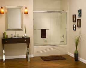 earth tone color bathroom