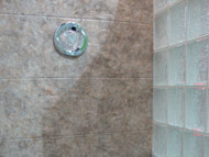 stone pattern choices in a shower wall system