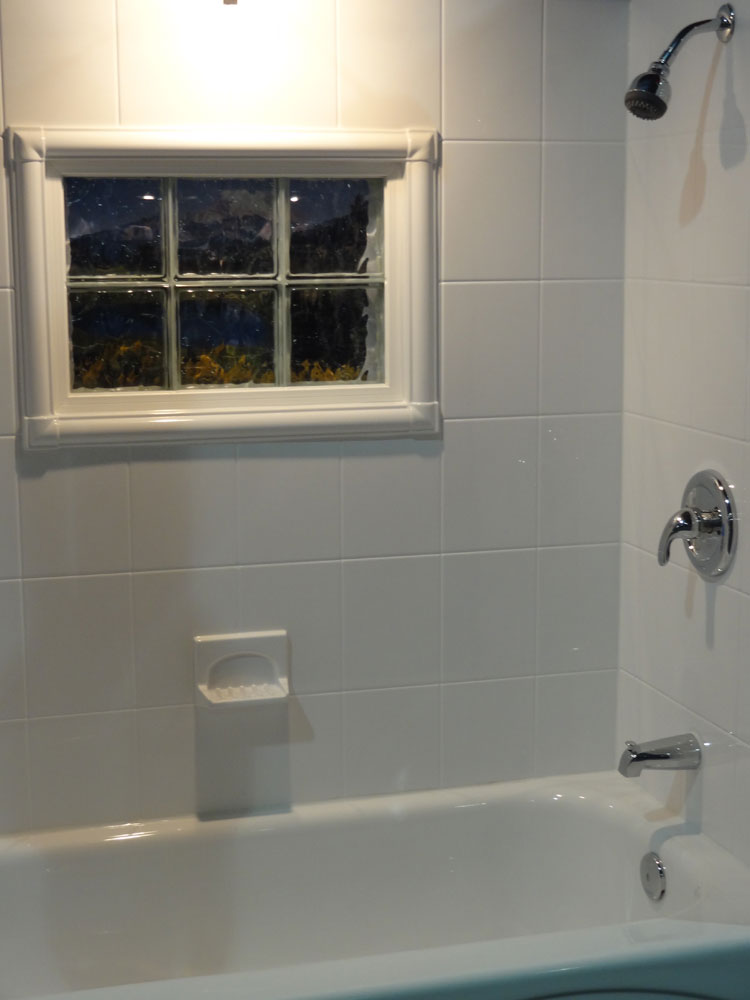 bath  shower wall surround with acrylic tile  swanstone