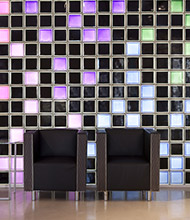 Multi-colored commercial wall