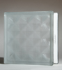 frosted diamond pattern glass block