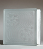 frosted oceanview pattern glass block