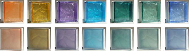 Colored frosted glass blocks nationwide supply for Glass block options