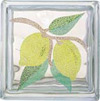 lemon mural on block glass