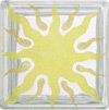 sunburst image on glass block