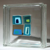 "4"" x 4"" glass tile block"