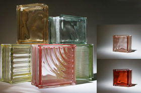 Kitchen & wine series colored glass blocks