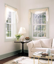 white vinyl double hung windows with grids in columbus ohio