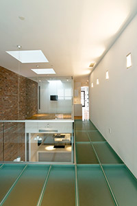 Residential glass flooring