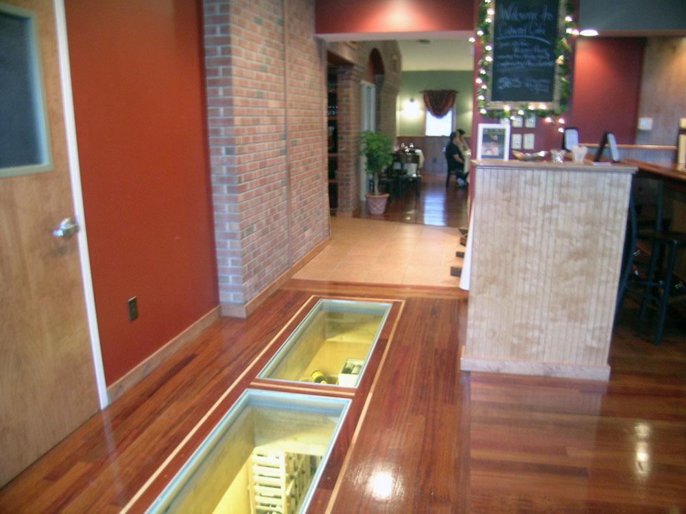 Glass floor panels stair treads for bridge landings for Floor to ceiling glass panels