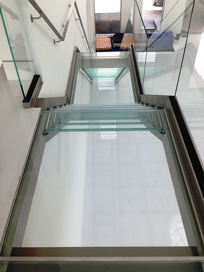 Glass Floor Panels Stair Treads For Bridge Landings