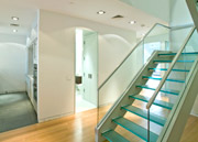 contemporary glass floor treads