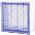 blue colored mosaic tile pattern glass block