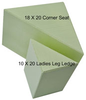 corner bench seat and leg ledges made of our expanded polystyrene