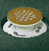 polished brass round strainer cover and drain kit